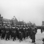 Soviet Troops Marching Through Red Square