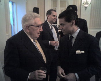 "Zacharia with mentor, Henry Kissinger. A member of the CFR and a former editor of its journal, Foreign Affairs, no surprise that Zacharia is the ""Plutocrat's Poodle."""