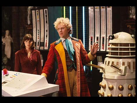 "Dr. Who with one of his Jewish Robots, called  ""Daleks"""