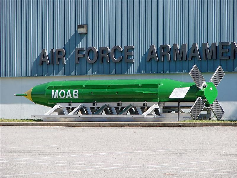 "The Mother of All Bombs: a ""great weapon"" to use on Iran, says US air force chief"