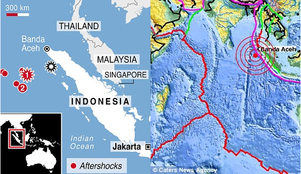 Millions breathe sigh of relief after tsunami alert is lifted following double quake that spread panic from Indonesia to India