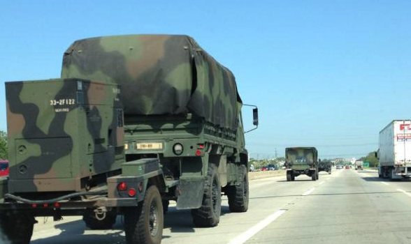 Army Convoy Heading Towards NATO Summit As Chicago Law Enforcement Prepares For War With Protesters