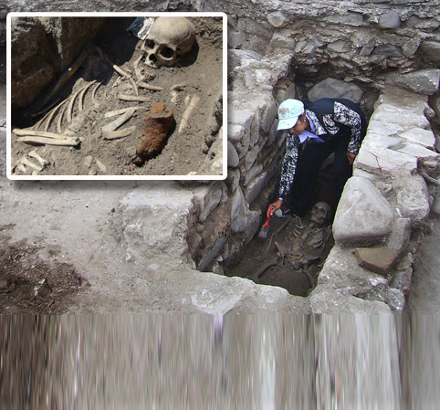 Are you sure digging him up is a good idea? Archaeologists find Bulgarian 'vampires' from Middle Ages with iron rods staked through their chests