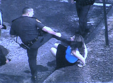 Video Rhode Island Cop Still Employed Despite Conviction of Kicking Woman to Head