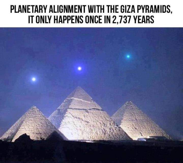 December 3rd, 2012 – Planets Align With Giza Pyramids For The 1st
