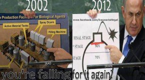 Iraq 2002, Iran 2012: Compare and contrast Netanyahu's speeches
