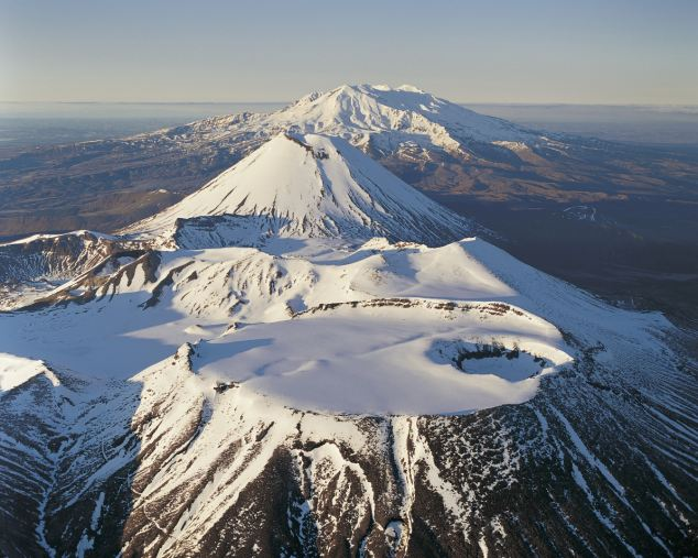 Mount Tongariro, Mount Ngauruhoe and Mount Ruapehu, Tongariro National Park, New Zealand
