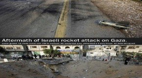 Pictures Tell the Story: Aftermath of Hamas Rocket Attack Compared to Israeli Airstrike