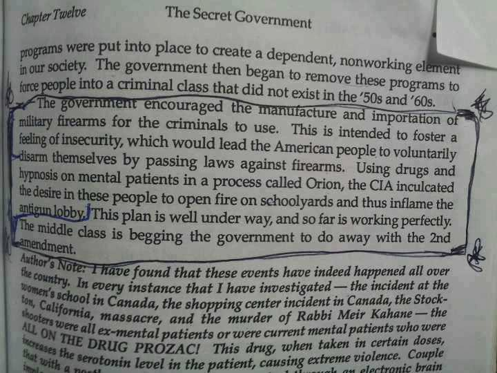 1991 Book Predicts School Shootings By Drugged Individuals In Order To Disarm Public