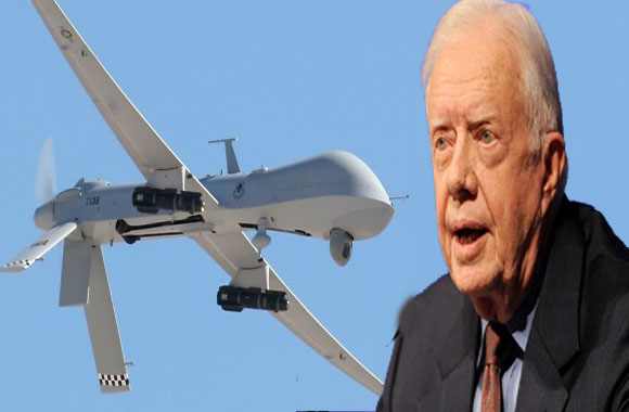 Former US president slams drone attacks