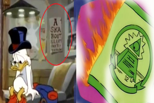 Illuminati Symbols in Simpsons and Ducktales Cartoon