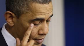 Obama Wipes Away Fake Tears