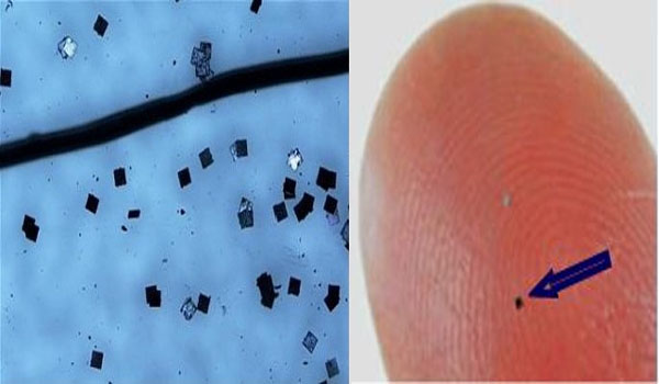 Hitachi Develops World's Smallest RFID Chip