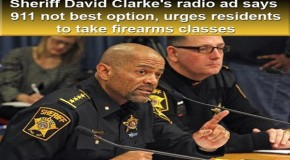Sheriff David Clarke's radio ad says 911 not best option, urges residents to take firearms classes
