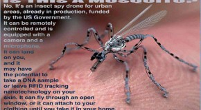 This Is Not A Mosquito It's An Insect Spy Drone For Urban Areas Already In Production Funded By The Gov