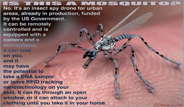 This Is Not A Mosquito Its An Insect Spy Drone For Urban Areas Already In Production Funded By The Gov