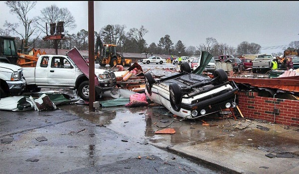 Adairsville, Georgia Tornado Southeast Battered By Deadly Storm