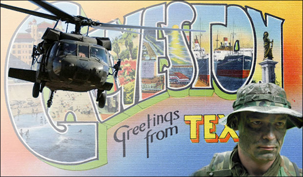 Army Invades Galveston, Texas