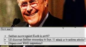 Newly-Released Memo by Donald Rumsfeld Proves Iraq War Started On False Pretenses