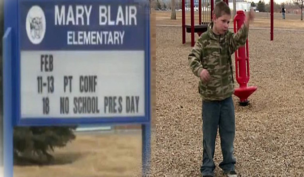 Second grader suspended from school for 'saving the world'