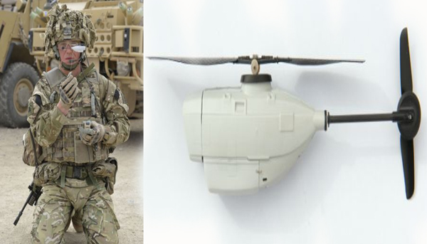 The Black Hornet - tiny spy drone that can follow enemy targets all the way home