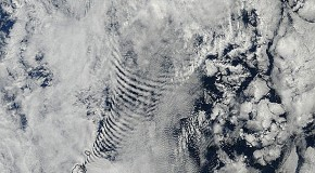 "Highly Bizarre ""Cloud Coils"" Photographed Over Prince Edward Islands"