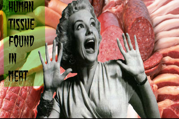 Human Tissue Found in Meats - but eating it is no threat