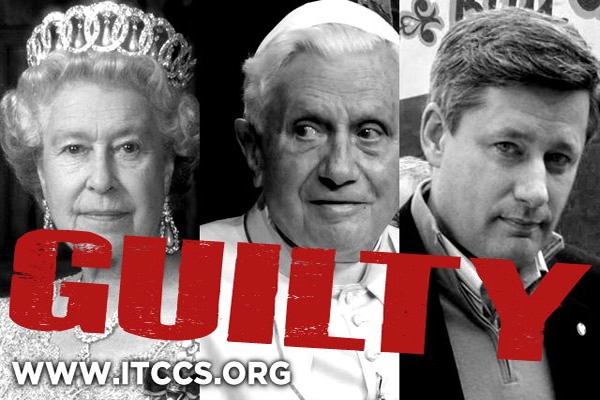 Top 50,000 NWo Crimes  25yrs for Queen, Pope, PM Harper