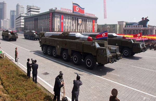 N Korean Missile Launchpad moved into Firing Position