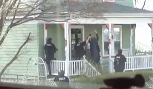Shocking Footage Americans Ordered Out Of Homes At Gunpoint By SWAT teams