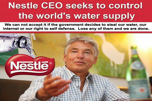 The Privatization of Water Nestlé Denies that Water is a Fundamental Human Right