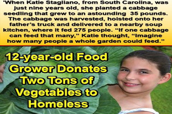 12-year-old Food Grower Donates 2 Tonnes of Vegetables to Homeless