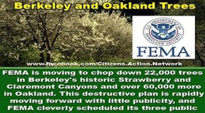 FEMA Plans Clear-Cutting 85,000 Berkeley and Oakland Trees