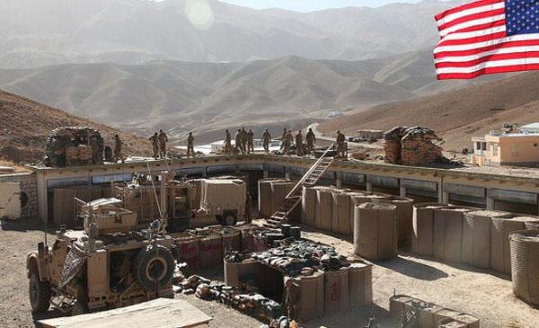 US building military base in Afghanistan near Iran border