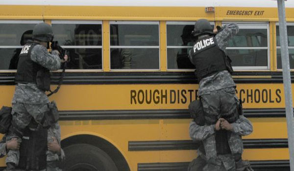 "Why Are Police Simulating Armed ""Angry Parents"" Laying Siege to Schools"