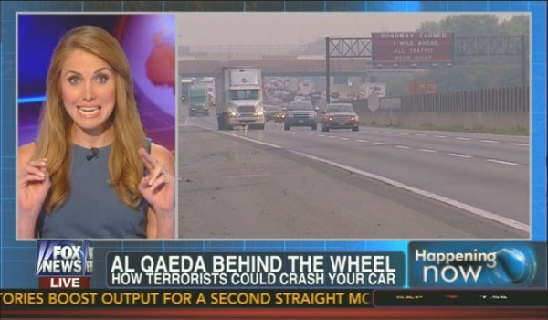 Fox News warns Al-Qaeda could 'hack your car & crash it'