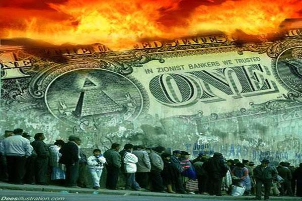 A Revolução vindo e colapso econômico