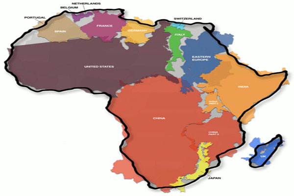 The True Size of Africa An Erroneous Map Misled Us For 500 Years