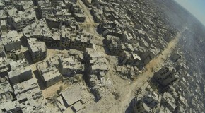 The wasteland: Horrifying aerial pictures show full scale of destruction of Syrian city of Homs