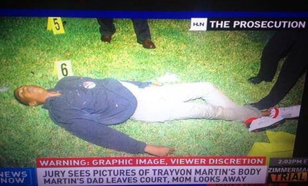 Trayvon's Body–Graphic–This Is Reality