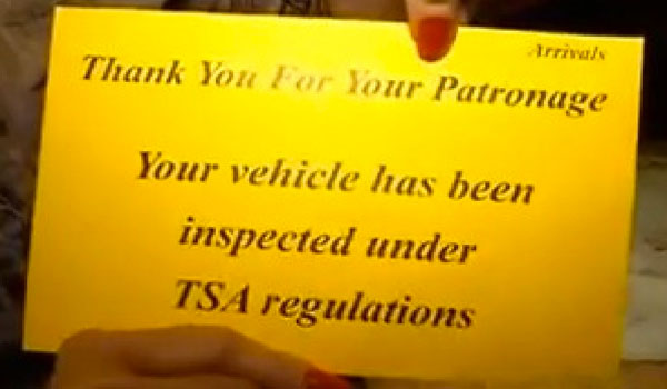 Valet parked cars searched under TSA regulations
