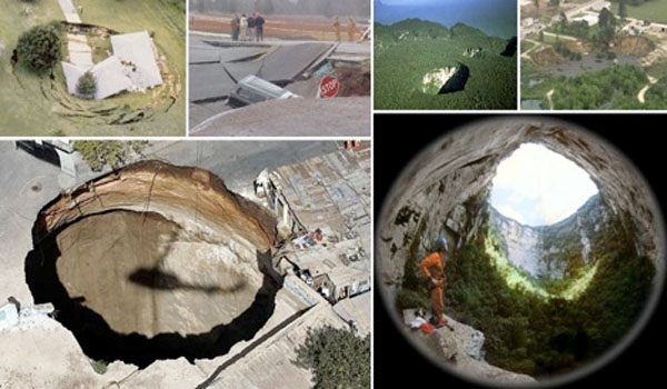 Collapsing Earth Why Are Giant Sinkholes Swallowing Cars, Homes And People All Around The World