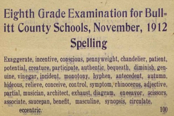 Were children smarter a century ago Test for eighth graders in Kentucky dated 1912 ignites debate over kids' intelligence today