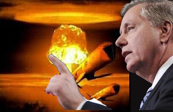 O senador Lindsey Graham a solicitar a autorização U.S