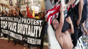 Americans protest against police brutality