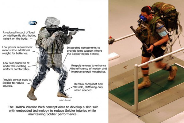 Iron Man army US military developing armor that allows special ops commandos to walk through stream of bullets, see in the dark, heal wounds and monitor vital signs