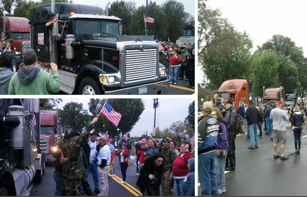 Negative US Media Coverage Fails to Stop Constitutional Truckers and Veterans Moving on DC