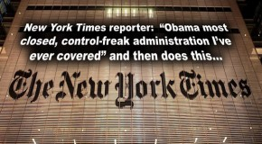 "Veteran New York Times Reporter: ""This Is Most Closed, Control-Freak Administration I've Ever Covered"""