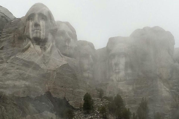 Viral Photo From the Re-Opening of Mt. Rushmore; Are the Forefathers Crying