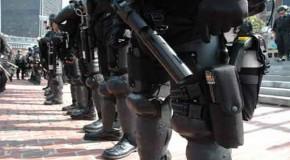 Black-Clad Paramilitary Confiscate Guns In California